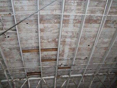 Wood Ceiling Before
